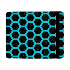 Hexagon2 Black Marble & Turquoise Colored Pencil (r) Samsung Galaxy Tab Pro 8 4  Flip Case by trendistuff