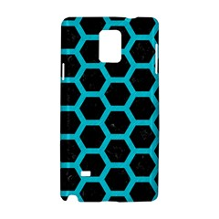 Hexagon2 Black Marble & Turquoise Colored Pencil (r) Samsung Galaxy Note 4 Hardshell Case by trendistuff
