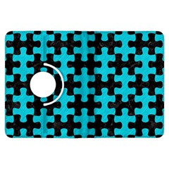 Puzzle1 Black Marble & Turquoise Colored Pencil Kindle Fire Hdx Flip 360 Case by trendistuff