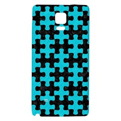 Puzzle1 Black Marble & Turquoise Colored Pencil Galaxy Note 4 Back Case by trendistuff
