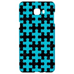 Puzzle1 Black Marble & Turquoise Colored Pencil Samsung C9 Pro Hardshell Case  by trendistuff