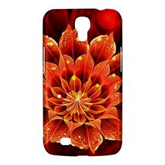 Beautiful Ruby Red Dahlia Fractal Lotus Flower Samsung Galaxy Mega 6 3  I9200 Hardshell Case by jayaprime