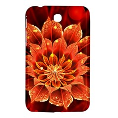 Beautiful Ruby Red Dahlia Fractal Lotus Flower Samsung Galaxy Tab 3 (7 ) P3200 Hardshell Case  by jayaprime