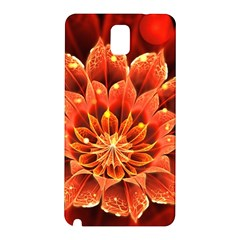 Beautiful Ruby Red Dahlia Fractal Lotus Flower Samsung Galaxy Note 3 N9005 Hardshell Back Case by beautifulfractals
