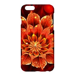 Beautiful Ruby Red Dahlia Fractal Lotus Flower Apple Iphone 6 Plus/6s Plus Hardshell Case by jayaprime