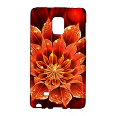 Beautiful Ruby Red Dahlia Fractal Lotus Flower Galaxy Note Edge by jayaprime