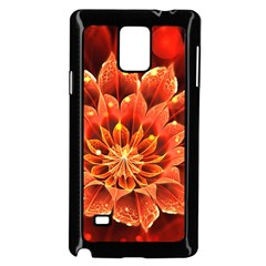 Beautiful Ruby Red Dahlia Fractal Lotus Flower Samsung Galaxy Note 4 Case (black) by beautifulfractals