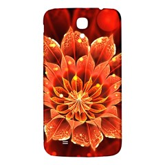 Beautiful Ruby Red Dahlia Fractal Lotus Flower Samsung Galaxy Mega I9200 Hardshell Back Case by jayaprime