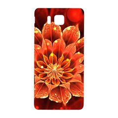 Beautiful Ruby Red Dahlia Fractal Lotus Flower Samsung Galaxy Alpha Hardshell Back Case by jayaprime