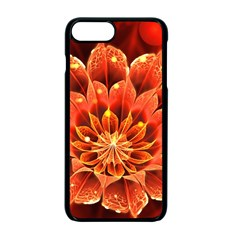 Beautiful Ruby Red Dahlia Fractal Lotus Flower Apple Iphone 7 Plus Seamless Case (black) by jayaprime