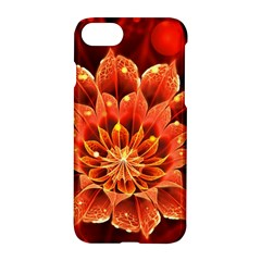 Beautiful Ruby Red Dahlia Fractal Lotus Flower Apple Iphone 8 Hardshell Case by beautifulfractals