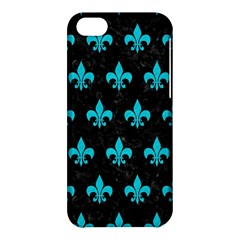 Royal1 Black Marble & Turquoise Colored Pencil Apple Iphone 5c Hardshell Case by trendistuff