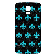 Royal1 Black Marble & Turquoise Colored Pencil Samsung Galaxy S5 Back Case (white) by trendistuff
