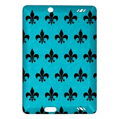 Royal1 Black Marble & Turquoise Colored Pencil (r) Amazon Kindle Fire Hd (2013) Hardshell Case by trendistuff