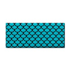 Scales1 Black Marble & Turquoise Colored Pencil Cosmetic Storage Cases by trendistuff