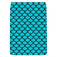 Scales1 Black Marble & Turquoise Colored Pencil Flap Covers (s)  by trendistuff