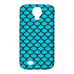 Scales1 Black Marble & Turquoise Colored Pencil Samsung Galaxy S4 Classic Hardshell Case (pc+silicone) by trendistuff