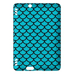 Scales1 Black Marble & Turquoise Colored Pencil Kindle Fire Hdx Hardshell Case by trendistuff