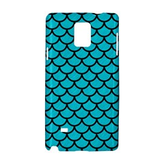 Scales1 Black Marble & Turquoise Colored Pencil Samsung Galaxy Note 4 Hardshell Case by trendistuff