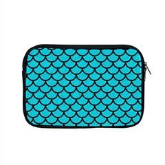 Scales1 Black Marble & Turquoise Colored Pencil Apple Macbook Pro 15  Zipper Case by trendistuff