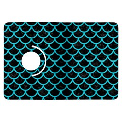 Scales1 Black Marble & Turquoise Colored Pencil (r) Kindle Fire Hdx Flip 360 Case by trendistuff