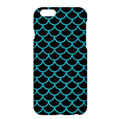 Scales1 Black Marble & Turquoise Colored Pencil (r) Apple Iphone 6 Plus/6s Plus Hardshell Case