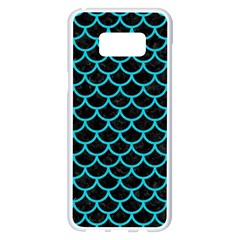 Scales1 Black Marble & Turquoise Colored Pencil (r) Samsung Galaxy S8 Plus White Seamless Case by trendistuff
