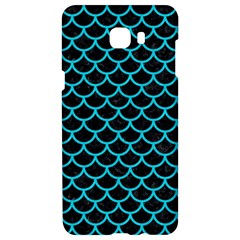 Scales1 Black Marble & Turquoise Colored Pencil (r) Samsung C9 Pro Hardshell Case  by trendistuff