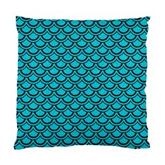 Scales2 Black Marble & Turquoise Colored Pencil Standard Cushion Case (one Side) by trendistuff