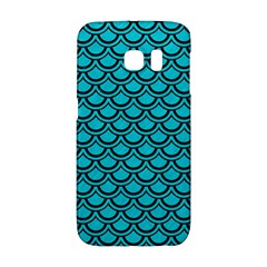 Scales2 Black Marble & Turquoise Colored Pencil Galaxy S6 Edge by trendistuff