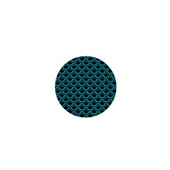 Scales2 Black Marble & Turquoise Colored Pencil (r) 1  Mini Magnets by trendistuff