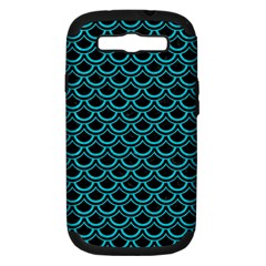 Scales2 Black Marble & Turquoise Colored Pencil (r) Samsung Galaxy S Iii Hardshell Case (pc+silicone) by trendistuff