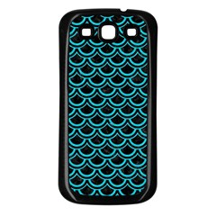 Scales2 Black Marble & Turquoise Colored Pencil (r) Samsung Galaxy S3 Back Case (black) by trendistuff