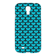 Scales3 Black Marble & Turquoise Colored Pencil Samsung Galaxy S4 I9500/i9505 Hardshell Case by trendistuff