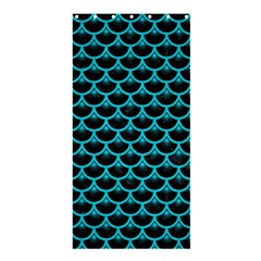 Scales3 Black Marble & Turquoise Colored Pencil (r) Shower Curtain 36  X 72  (stall)  by trendistuff