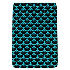 Scales3 Black Marble & Turquoise Colored Pencil (r) Flap Covers (s)  by trendistuff