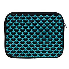 Scales3 Black Marble & Turquoise Colored Pencil (r) Apple Ipad 2/3/4 Zipper Cases by trendistuff