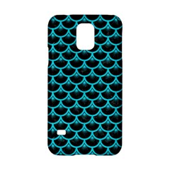 Scales3 Black Marble & Turquoise Colored Pencil (r) Samsung Galaxy S5 Hardshell Case  by trendistuff