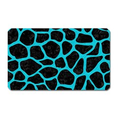 Skin1 Black Marble & Turquoise Colored Pencil Magnet (rectangular) by trendistuff