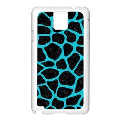 Skin1 Black Marble & Turquoise Colored Pencil Samsung Galaxy Note 3 N9005 Case (white) by trendistuff