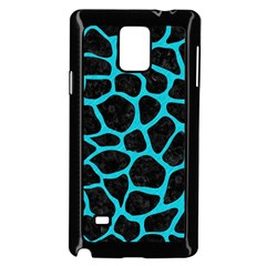 Skin1 Black Marble & Turquoise Colored Pencil Samsung Galaxy Note 4 Case (black) by trendistuff