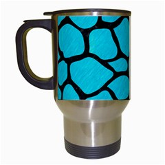 Skin1 Black Marble & Turquoise Colored Pencil (r) Travel Mugs (white) by trendistuff