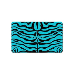 Skin2 Black Marble & Turquoise Colored Pencil Magnet (name Card) by trendistuff