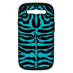 Skin2 Black Marble & Turquoise Colored Pencil (r) Samsung Galaxy S Iii Hardshell Case (pc+silicone) by trendistuff