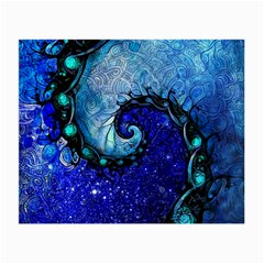 Nocturne Of Scorpio, A Fractal Spiral Painting Small Glasses Cloth by jayaprime