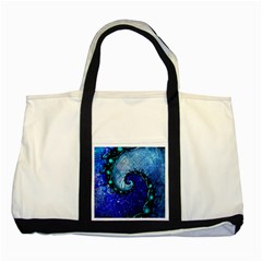 Nocturne Of Scorpio, A Fractal Spiral Painting Two Tone Tote Bag by beautifulfractals