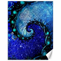 Nocturne Of Scorpio, A Fractal Spiral Painting Canvas 12  X 16   by beautifulfractals