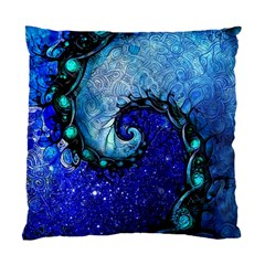 Nocturne Of Scorpio, A Fractal Spiral Painting Standard Cushion Case (one Side) by jayaprime