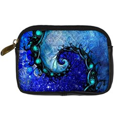 Nocturne Of Scorpio, A Fractal Spiral Painting Digital Camera Cases by jayaprime