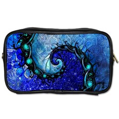 Nocturne Of Scorpio, A Fractal Spiral Painting Toiletries Bags by jayaprime